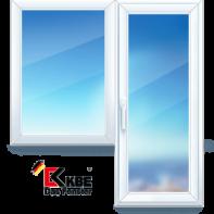 Балконная дверь и окно ПВХ из профиля KBE