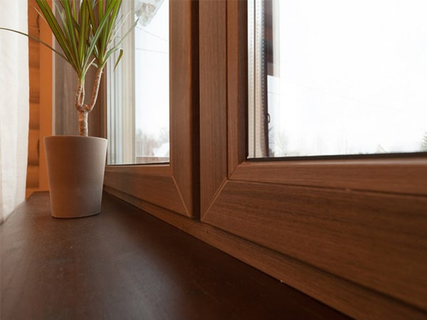 Окна ПВХ ламинированное коричневое