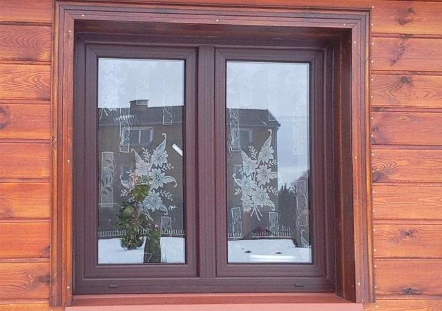 Окно с ламинацией венге
