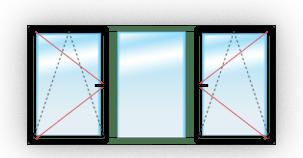 C двумя поворотно-откидными
