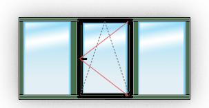 окно с одним поворотно-откидным